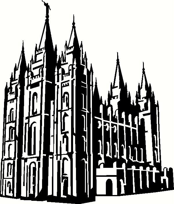 Utah Salt Lake City Temple 2 Wall Sticker Vinyl Decal