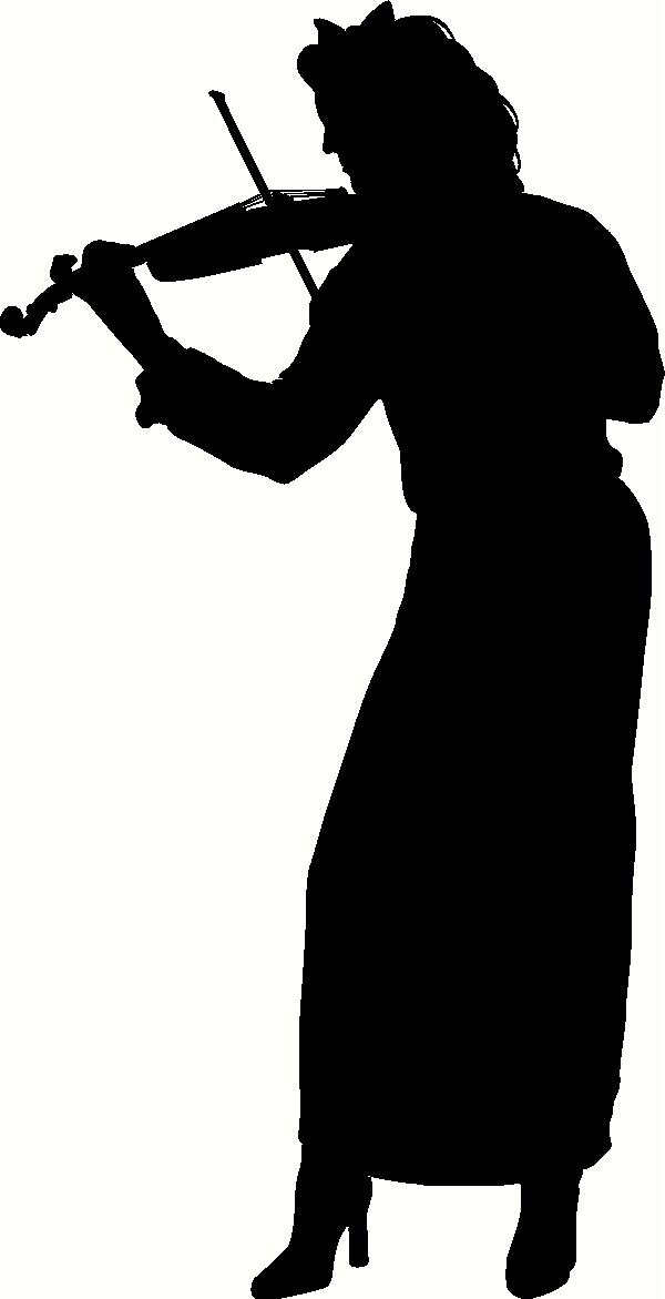 Violin Player Silhouette vinyl decal