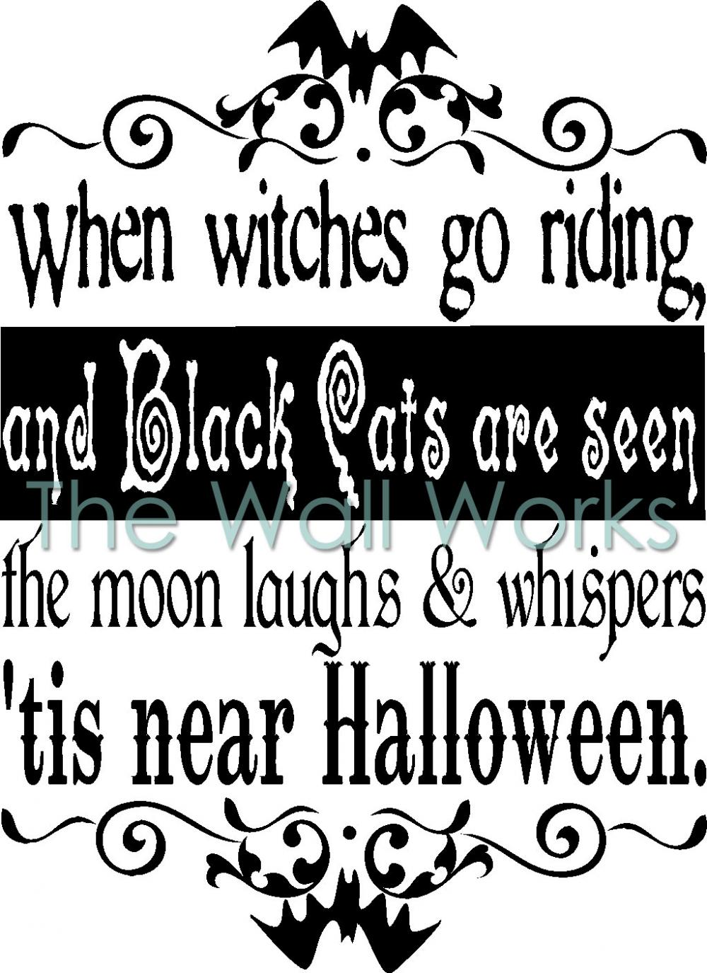 When Witches Go Riding Wall Sticker Vinyl Decal The
