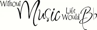 Without Music vinyl decal