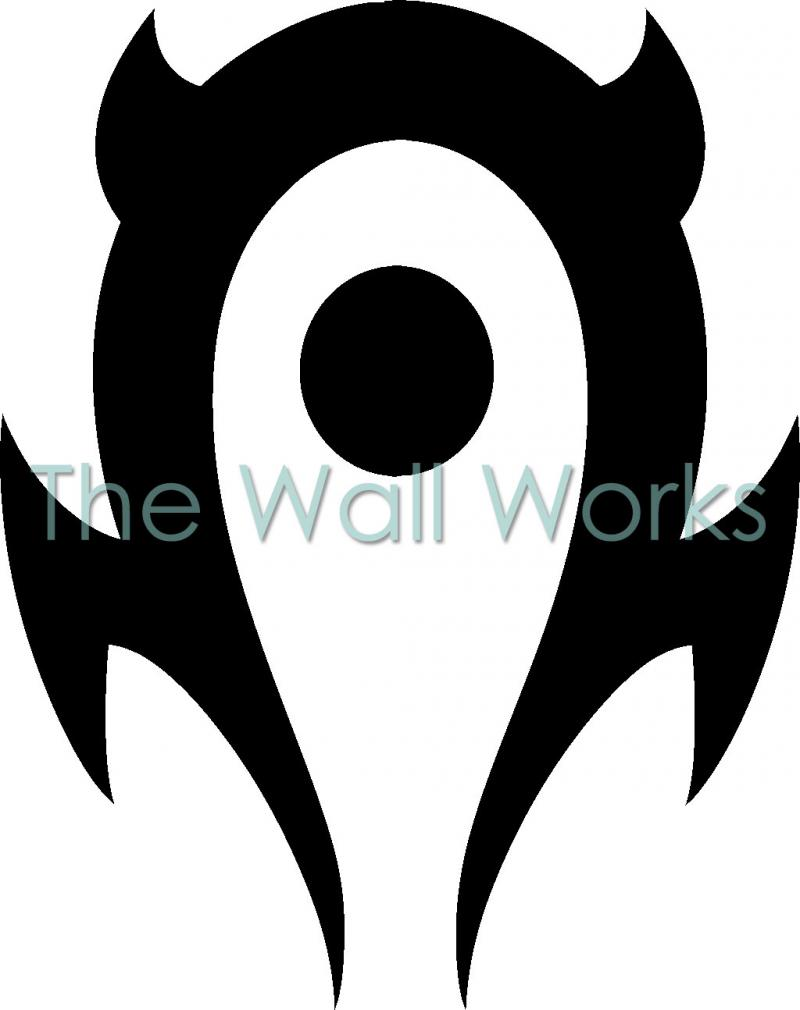 World of warcraft horde wall sticker vinyl decal the wall works world of warcraft horde vinyl decal buycottarizona