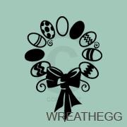 Easter Egg Wreath vinyl decal