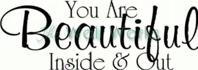 You are Beautiful vinyl decal