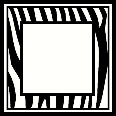 Zebra Frame wall sticker, vinyl decal | The Wall Works