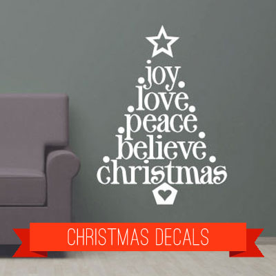 christmas vinyl lettering and decals